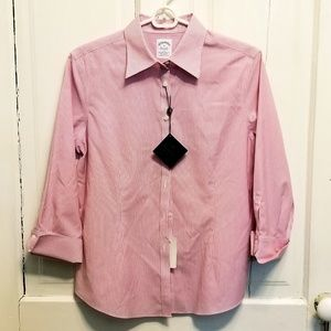 Brooks Brothers Fitted Non-iron Stretch Shirt